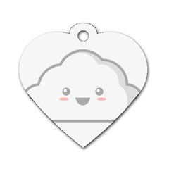 Kawaii Cloud Dog Tag Heart (two Sides) by KawaiiKawaii