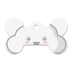 Kawaii Cloud Dog Tag Bone (one Side) by KawaiiKawaii