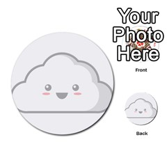 Kawaii Cloud Multi Purpose Cards (round)  by KawaiiKawaii