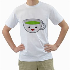 Kawaii Cup Men s T Shirt (white) (two Sided)