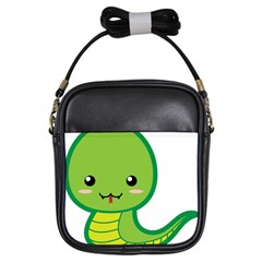 Kawaii Snake Girls Sling Bags