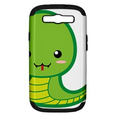 Kawaii Snake Samsung Galaxy S Iii Hardshell Case (pc+silicone) by KawaiiKawaii