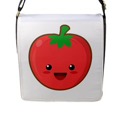 Kawaii Tomato Flap Messenger Bag (l)  by KawaiiKawaii