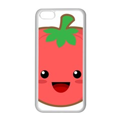 Kawaii Tomato Apple Iphone 5c Seamless Case (white) by KawaiiKawaii