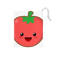 Kawaii Tomato Drawstring Pouches (medium)  by KawaiiKawaii