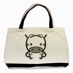 Kawaii Zebra Basic Tote Bag  by KawaiiKawaii