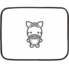 Kawaii Zebra Double Sided Fleece Blanket (mini)  by KawaiiKawaii