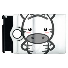 Kawaii Zebra Apple Ipad 2 Flip 360 Case by KawaiiKawaii
