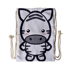 Kawaii Zebra Drawstring Bag (small) by KawaiiKawaii