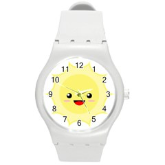 Kawaii Sun Round Plastic Sport Watch (m) by KawaiiKawaii