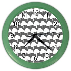 Tree Illustration Gifts Color Wall Clocks