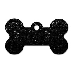 Crystal Bling Strass G283 Dog Tag Bone (two Sides) by MedusArt
