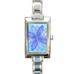 Abstract Lotus Flower 1 Rectangle Italian Charm Watches by MedusArt
