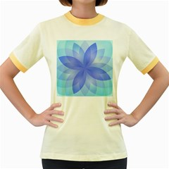 Abstract Lotus Flower 1 Women s Fitted Ringer T Shirts by MedusArt