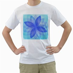 Abstract Lotus Flower 1 Men s T-shirt (white) (two Sided) by MedusArt
