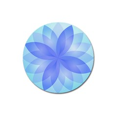 Abstract Lotus Flower 1 Magnet 3  (round) by MedusArt