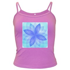 Abstract Lotus Flower 1 Dark Spaghetti Tanks by MedusArt