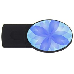 Abstract Lotus Flower 1 Usb Flash Drive Oval (4 Gb)  by MedusArt