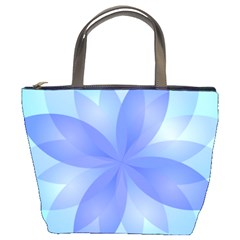 Abstract Lotus Flower 1 Bucket Bags by MedusArt