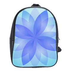 Abstract Lotus Flower 1 School Bags(large)  by MedusArt