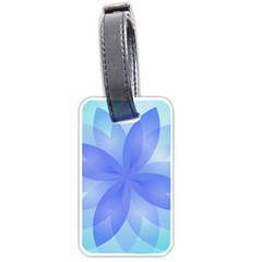 Abstract Lotus Flower 1 Luggage Tags (one Side)  by MedusArt