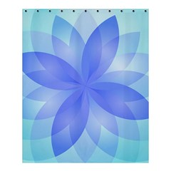 Abstract Lotus Flower 1 Shower Curtain 60  X 72  (medium)  by MedusArt