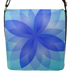 Abstract Lotus Flower 1 Flap Messenger Bag (s) by MedusArt