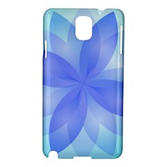 Abstract Lotus Flower 1 Samsung Galaxy Note 3 N9005 Hardshell Case by MedusArt