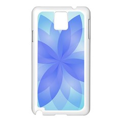 Abstract Lotus Flower 1 Samsung Galaxy Note 3 N9005 Case (white) by MedusArt