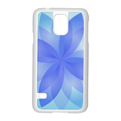 Abstract Lotus Flower 1 Samsung Galaxy S5 Case (white) by MedusArt