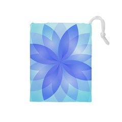 Abstract Lotus Flower 1 Drawstring Pouches (medium)  by MedusArt