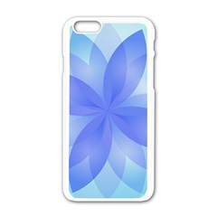 Abstract Lotus Flower 1 Apple Iphone 6/6s White Enamel Case by MedusArt