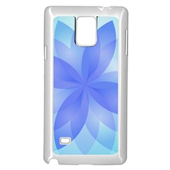 Abstract Lotus Flower 1 Samsung Galaxy Note 4 Case (white) by MedusArt