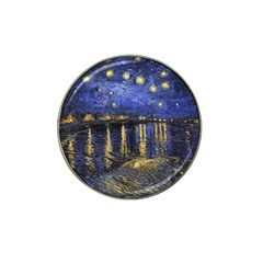 Vincent Van Gogh Starry Night Over The Rhone Hat Clip Ball Marker