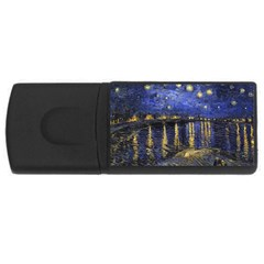 Vincent Van Gogh Starry Night Over The Rhone Usb Flash Drive Rectangular (4 Gb)