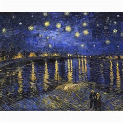 Vincent Van Gogh Starry Night Over The Rhone Canvas 16  X 20   by MasterpiecesOfArt