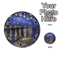Vincent Van Gogh Starry Night Over The Rhone Playing Cards 54 (round)  by MasterpiecesOfArt