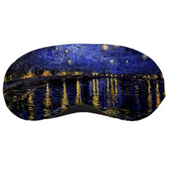 Vincent Van Gogh Starry Night Over The Rhone Sleeping Masks by MasterpiecesOfArt