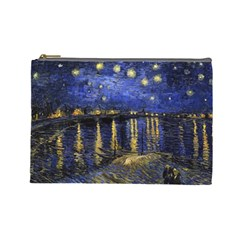 Vincent Van Gogh Starry Night Over The Rhone Cosmetic Bag (large)