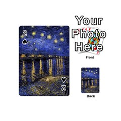 Vincent Van Gogh Starry Night Over The Rhone Playing Cards 54 (mini)  by MasterpiecesOfArt