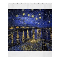 Vincent Van Gogh Starry Night Over The Rhone Shower Curtain 60  X 72  (medium)