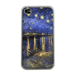 Vincent Van Gogh Starry Night Over The Rhone Apple Iphone 4 Case (clear)