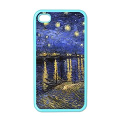 Vincent Van Gogh Starry Night Over The Rhone Apple Iphone 4 Case (color) by MasterpiecesOfArt