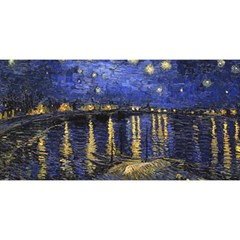 Vincent Van Gogh Starry Night Over The Rhone You Are Invited 3d Greeting Card (8x4)  by MasterpiecesOfArt