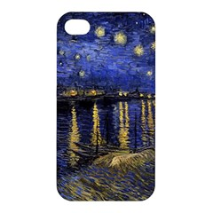 Vincent Van Gogh Starry Night Over The Rhone Apple Iphone 4/4s Hardshell Case by MasterpiecesOfArt