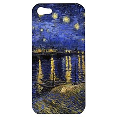 Vincent Van Gogh Starry Night Over The Rhone Apple Iphone 5 Hardshell Case by MasterpiecesOfArt