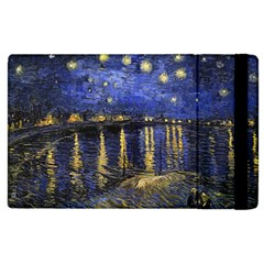 Vincent Van Gogh Starry Night Over The Rhone Apple Ipad 3/4 Flip Case by MasterpiecesOfArt