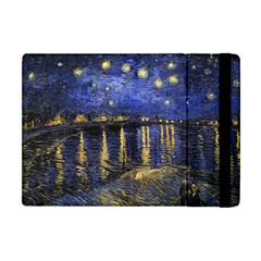 Vincent Van Gogh Starry Night Over The Rhone Apple Ipad Mini Flip Case by MasterpiecesOfArt