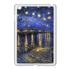Vincent Van Gogh Starry Night Over The Rhone Apple Ipad Mini Case (white) by MasterpiecesOfArt