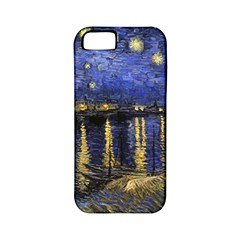 Vincent Van Gogh Starry Night Over The Rhone Apple Iphone 5 Classic Hardshell Case (pc+silicone) by MasterpiecesOfArt